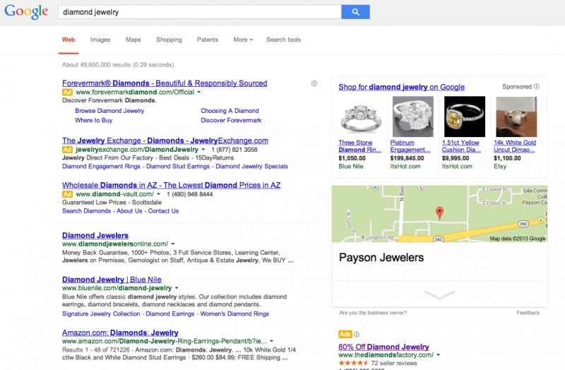 Google Suche organisch