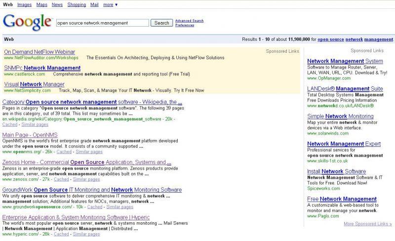 Google Suche hin zu Position Zero
